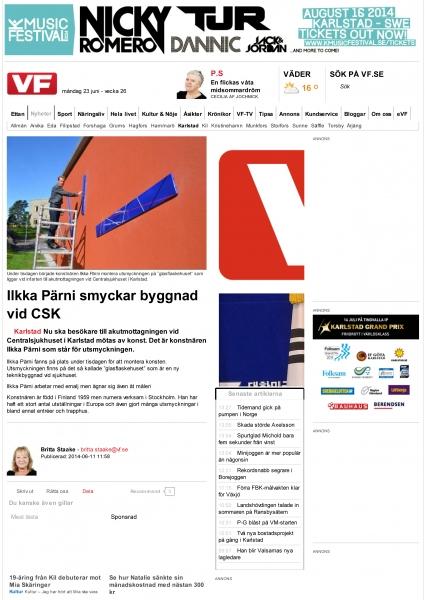 Ilkka Pärni smyckar byggnad vid CSK _ Värmlands Folkblad-1